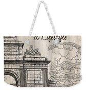 Vintage Travel Poster Madrid Weekender Tote Bag