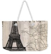 Vintage Travel Poster Paris Weekender Tote Bag