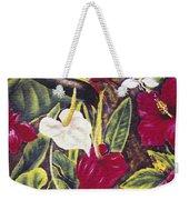 Vintage Tropical Flowers Weekender Tote Bag