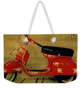 Vintage Vespa Scooter Red Weekender Tote Bag