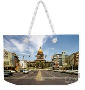 Vintage View Of The Texas State Capitol And Downtown Austin From September 1968 Weekender Tote Bag