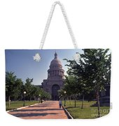 Vintage View Of The Texas State Capitol In Downtown Austin, Texas Weekender Tote Bag