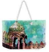 Vintage Watercolor Gazebo Ornate Palace Mehrangarh Fort India Rajasthan 2a Weekender Tote Bag