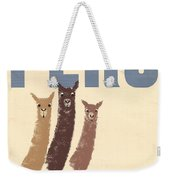 Vintage Wild Life Travel Llamas Weekender Tote Bag