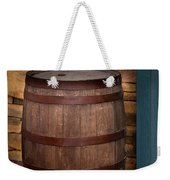 Vintage Wine Barrel Weekender Tote Bag