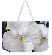 Pansy Flowers Weekender Tote Bag