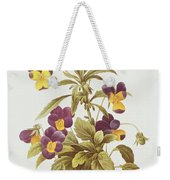 Viola Tricolour  Weekender Tote Bag by Pierre Joseph Redoute