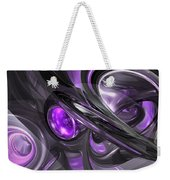 Violaceous Abstract  Weekender Tote Bag