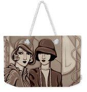 Violet And Rose In Sepia Tone Weekender Tote Bag