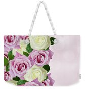Violet  And White Roses Weekender Tote Bag