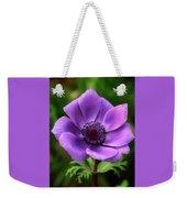 Violet Anemone Weekender Tote Bag
