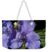 Violet Blooms Weekender Tote Bag