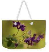 Violet Columbines Weekender Tote Bag