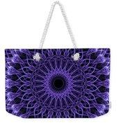 Violet Digital Mandala Weekender Tote Bag