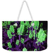 Violet Dream On Green Weekender Tote Bag