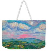 Violet Evening On Rocky Knob Weekender Tote Bag