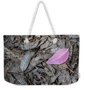 Violet Leaf On The Ground  Weekender Tote Bag