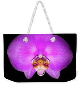 Violet Orchid On Black. Fantasy 7.21.17 Weekender Tote Bag