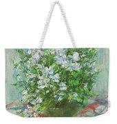 Violet Orychophragmus Weekender Tote Bag
