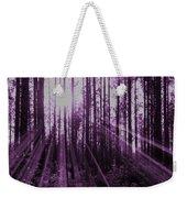 Violet Rays Weekender Tote Bag