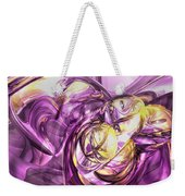 Violet Summer Abstract Weekender Tote Bag