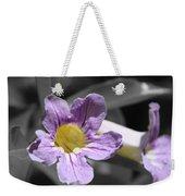Violet Trumpet Vine Selective Color Weekender Tote Bag