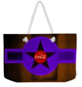 Violet With Red And Orange Weekender Tote Bag