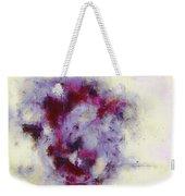 Violets Abstract Weekender Tote Bag