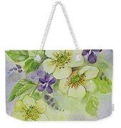 Violets And Wild Roses Weekender Tote Bag