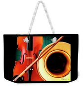 Violin And French Horn Weekender Tote Bag