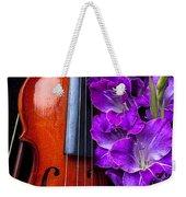 Violin And Purple Glads Weekender Tote Bag