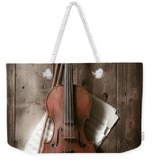 Violin Weekender Tote Bag by Garry Gay