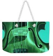 Violin In Green Weekender Tote Bag