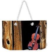 Violin In Window Weekender Tote Bag