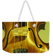 Violin In Yellow Weekender Tote Bag