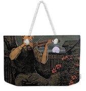 Violin Player To The Moon Weekender Tote Bag