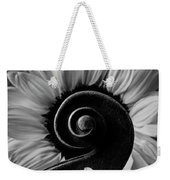 Violin Scroll And Sunflower In Black And White Weekender Tote Bag