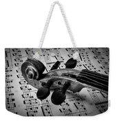 Violin Scroll On Sheet Music Weekender Tote Bag