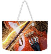 Violin With Sparks Flying From The Bow Weekender Tote Bag by Garry Gay