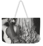 Violin Woman - Id 16218-130643-9888 Weekender Tote Bag