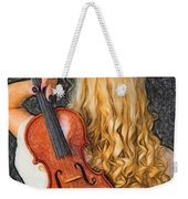 Violin Woman - Id 16218-130709-0128 Weekender Tote Bag