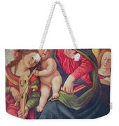 Virgin And Child And Angel Musicians  Weekender Tote Bag