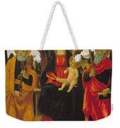 Virgin And Child Between Saint Peter And Saint Paul Weekender Tote Bag
