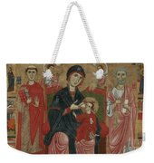 Virgin And Child Enthroned With Saints Leonard And Peter And Scenes From The Life Of Saint Peter Weekender Tote Bag