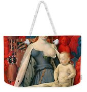 Virgin And Child Surrounded By Angels Weekender Tote Bag
