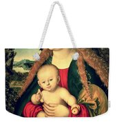 Virgin And Child Under An Apple Tree Weekender Tote Bag