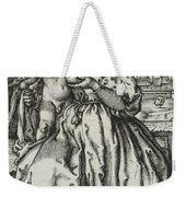 Virgin And Child With A Parrot Weekender Tote Bag