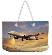 Virgin Atlantic Boeing 787 Dreamliner Weekender Tote Bag