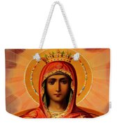 Virgin Mary Old Painting Weekender Tote Bag
