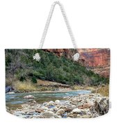 Virgin River In Zion Canyon Weekender Tote Bag